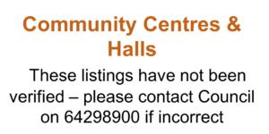 Community Centres & Halls