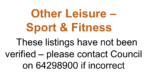 Other Leisure – Sport & Fitness