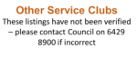 Other Service Clubs