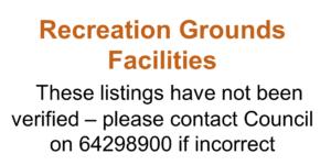 Recreation Grounds Facilities